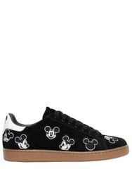 Moa Master Of Arts Mickey Mouse Embroidered Suede Sneakers