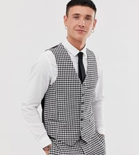 Heart And Dagger Skinny Fit Waistcoat In Gingham Multi
