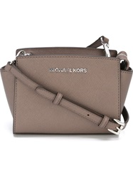 Michael Michael Kors Mini 'Selma' Crossbody Bag Grey