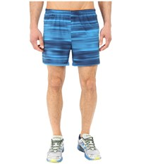 New Balance Impact 5 Track Short Sonar Abyss Graphic Men's Shorts Blue