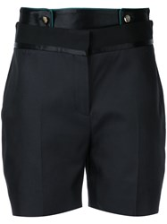 Victoria Beckham Tailored Shorts Women Silk Cotton 10 Black
