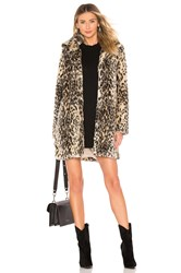 Cupcakes And Cashmere Adamia Faux Fur Coat Brown