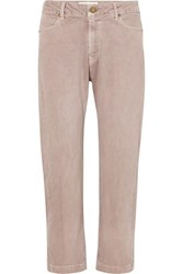 The Great Rambler Cropped High Rise Jeans Pink