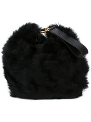Simone Rocha Detachable Wrist Strap Clutch Black