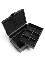 Dunhill Boston Cufflinks And Watch Leather Box Black