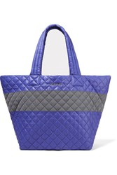 M Z Wallace Mz Metro Medium Quilted Shell Tote Blue