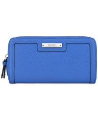 Nine West Table Treasures Small Zip Around Wallet Electric Blue