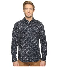 Nautica Long Sleeve Floral Print Maritime Navy Men's Clothing