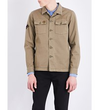 The Kooples Badge Embroidered Cotton Shirt Kak01