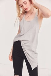 Silence And Noise Quinn Asymmetrical Tank Top Grey