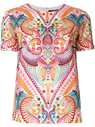 Manish Arora Ethnic Embroidered Top Multicolour