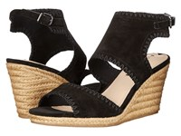 Via Spiga Izett Black Suede Women's Wedge Shoes