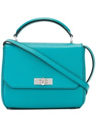 Bally Removable Strap Tote Blue