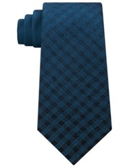 Kenneth Cole Reaction Men's Panel Silk Tie Teal