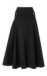 Derek Lam High Waist Flare Mini Skirt Black