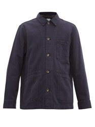 Rag And Bone Jasper Cotton Blend Utility Jacket Indigo