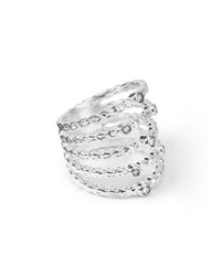 Ippolita 925 Glamazon Five Band Stacked Ring Size 7 Silver