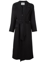 Carolinaritz Open Belted Coat Black