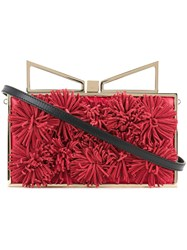 Sara Battaglia Roxy Clutch Women Calf Leather One Size Red