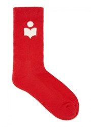 Isabel Marant Toile Visby Red Cotton Blend Socks