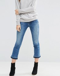 Only Nadia Cropped Flare Jean Blue