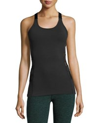 Beyond Yoga Silhouette Triple Mesh Tank Black