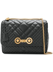 Versace Icon Quilted Shoulder Bag Black