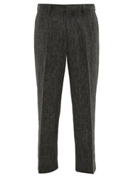 Sasquatchfabrix. Sasquatchfabrix Straight Leg Linen Blend Trousers Grey