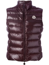 Moncler 'Ghany' Padded Gilet Pink And Purple
