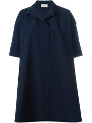 Lanvin Oversized Shirt Dress Blue