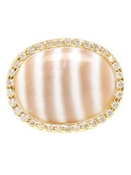 Kimberly Mcdonald Chalcedony Ring White