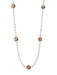 Effy Final Call Smoky Quartz And 14K Yellow Gold Station Necklace