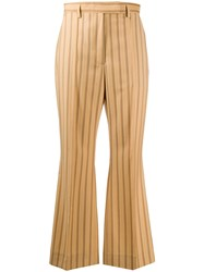 Acne Studios Striped Cropped Trousers 60