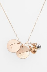 Women's Nashelle Pyrite Initial And Arrow 14K Gold Fill Disc Necklace Gold Pyrite Silver Pyrite L