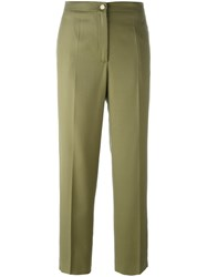 Chanel Vintage Cropped Trousers Green