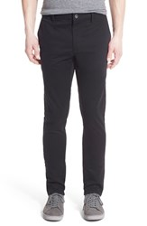 Men's Rvca 'Stapler' Skinny Fit Twill Pants Black