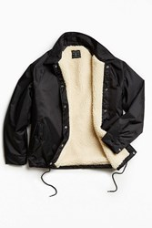 Urban Outfitters Uo Sherpa Lined Coach Jacket Black