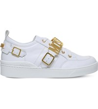 Moschino Low Top Logo Trainers White