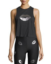 Ultracor Lip Service Racerback Tank Black Pink