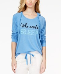 Jenni By Jennifer Moore Hooded Graphic Pajama Top Only At Macy's
