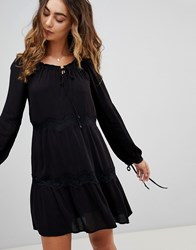 Pepe Jeans Ander Tie Sleeve Dress Black