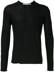 Isabel Benenato Knitted Sweater Black