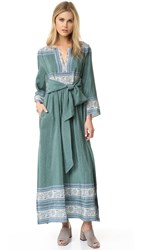 Sea Sabine Silk Maxi Dress Sea Green