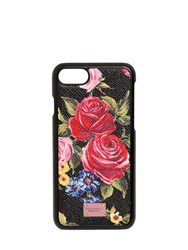 Dolce And Gabbana Dauphine Embossed Leather Iphone 7 Case