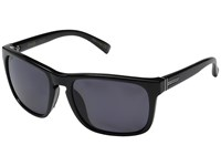 Von Zipper Lomax Polarized Black Gloss Vintage Grey Wildlife Polarized Lens Plastic Frame Sport Sunglasses Gray