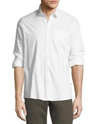 Civil Society Stretch Woven Button Down Shirt White