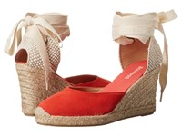 Soludos Tall Wedge Fire Red Women's Wedge Shoes