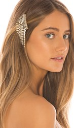 Elizabeth Cole Bowers Hair Comb In Metallic Gold.
