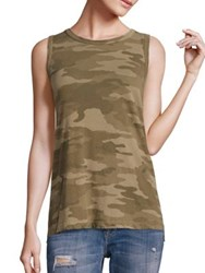 Current Elliott Cotton Camo Muscle Tee Army Camo