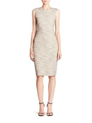 Theory Eano Tweed Sheath Dress Black White